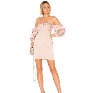 NWT Endless Rose Satin Dress In Dusty Rose Large